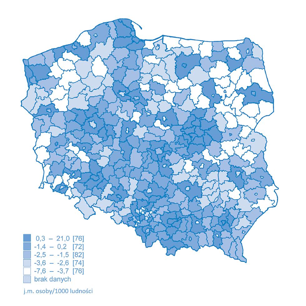 Saldo migracji w Polsce